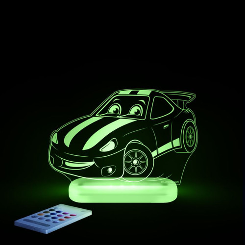 Aloka Night Light Racing Car Green