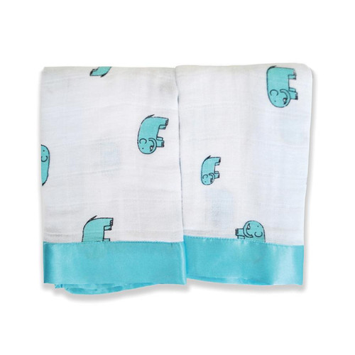 Aden + Anais Issie Security Blankets - Jungle Jam Elephant