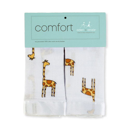 Aden + Anais Issie Security Blankets - Jungle Jam Giraffe