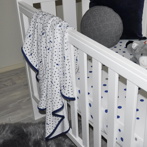 Little Turtle Baby Stretch Jersey Wrap - Turtles & Spots Navy