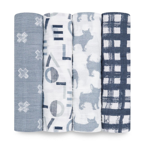 4-Pack Classic Swaddles - Waverly