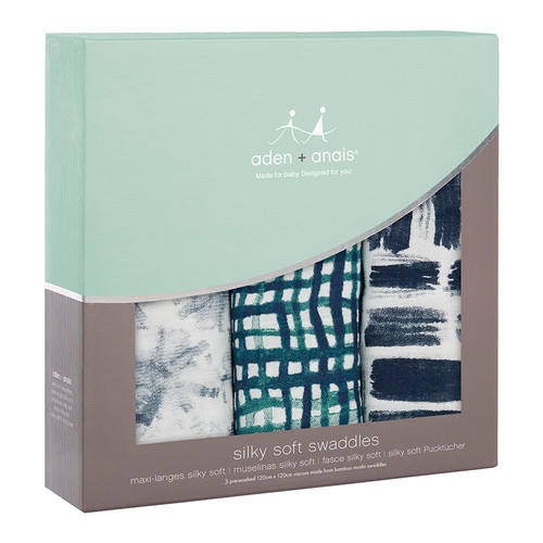 3-Pack Silky Soft Swaddles - Seaport