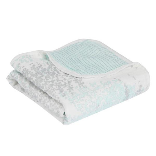 Silky Soft Stroller Blanket - Metallic Skylight Birch