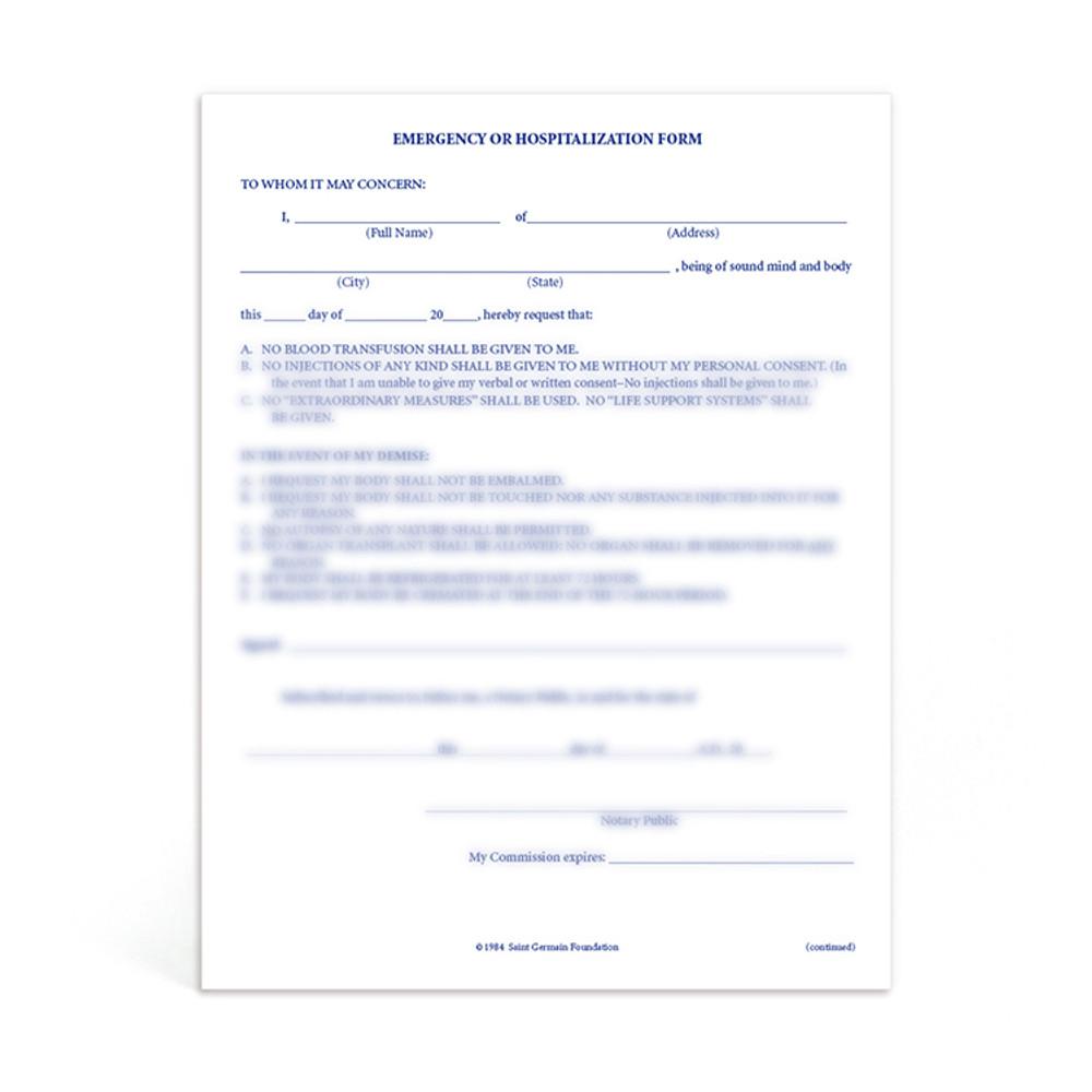 Hospitalization Form