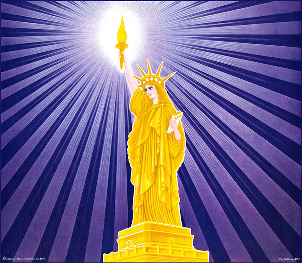 Goddess of Liberty - violet rays