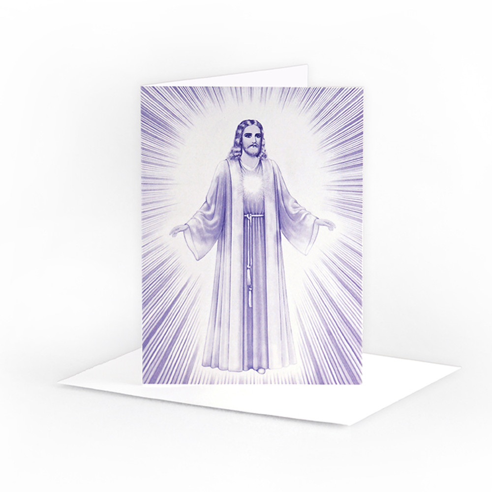 Jesus Luminous Presence - in violet