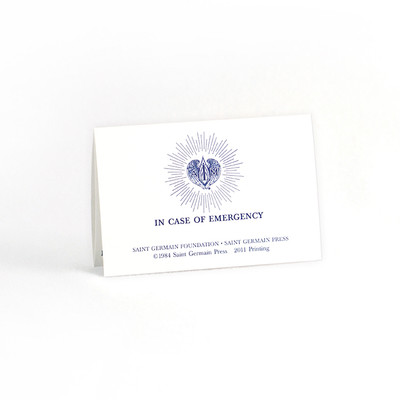 Hospitalization Emergency Wallet Card