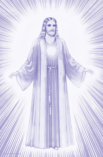 Jesus Luminous Presence - violet
