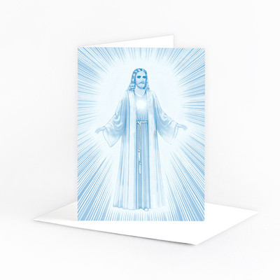 Jesus Luminous Presence - in blue