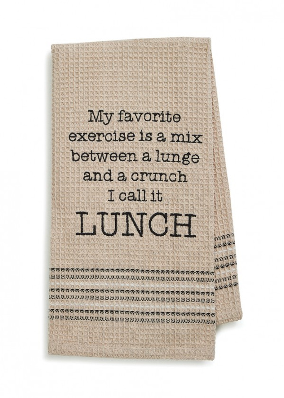 I Call It Lunch! Bar Towel by Mona B