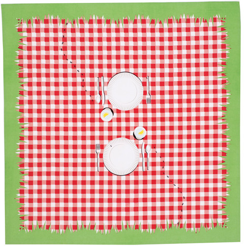 Red & White Checked Picnic Tablecloth