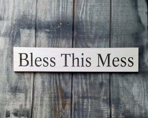Bless This Mess Wooden Wall Decor