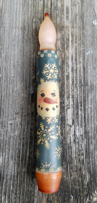 LED Battery Candle for Christmas Snowman & Snowflakes