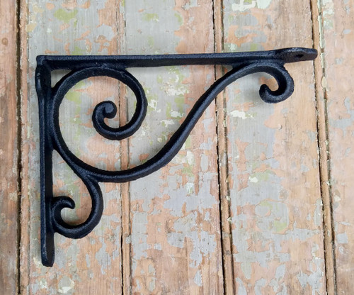 Cast Iron Shelf Bracket with Swirls