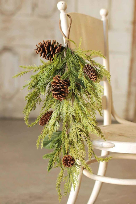 Killington Pine Drop with Pine Cones 27""
