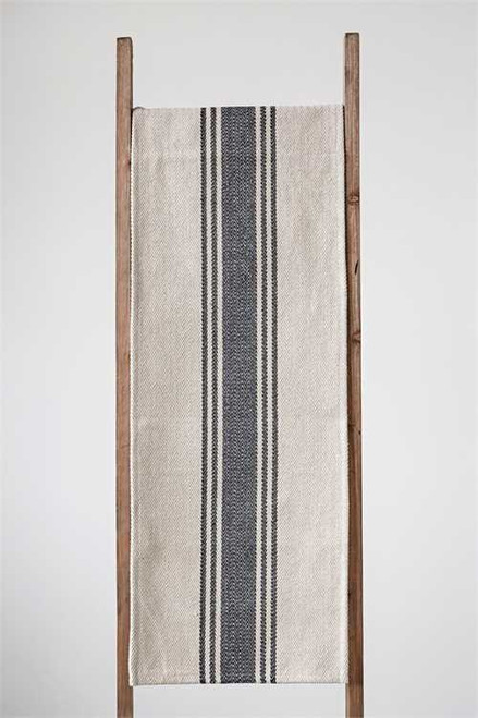 ... Rustic Cotton Canvas Table Runner With Stripes 72 Inches ...