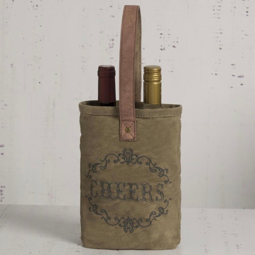 CHEERS! Double Wine Bottle Tote
