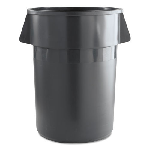 Boardwalk BWK44GLWRGRA trash can 44 gallon round container with handle gray