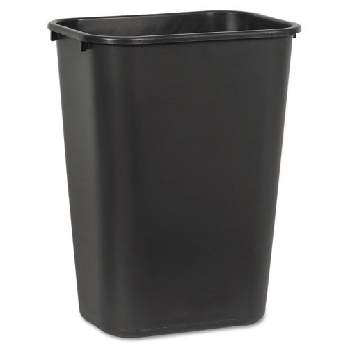 Boardwalk BWK41QTWBBLA trash can wastebasket 41 quart or 10.25 gallon soft sided plastic rectangle black