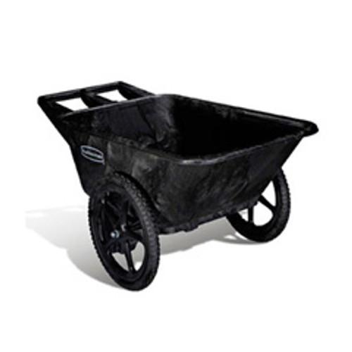 Rubbermaid 5642bla big wheel cart wheel barrow 7.5 cubic feet 300 lbs. black