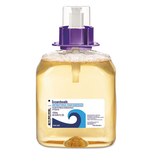 Boardwalk BWK8300 1250ml antibacterial foaming handsoap refills case of 4 for dispenser BWK8350