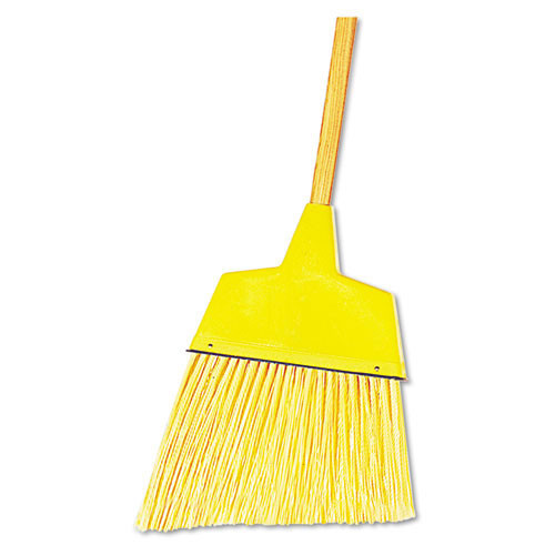 Boardwalk BWK932ACT angle broom plastic bristles wood handle 42 inches long 13 inch sweep case of 12 brooms replaces UNS932C