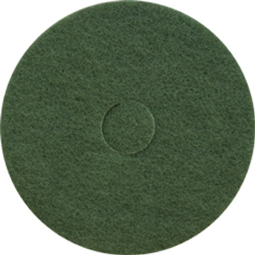 Green Scrub Floor Pads 20 inch standard speed up to 350 rpm case of 5 pads by Cleaning Stuff 20GREEN GW