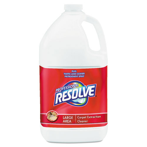 Resolve professional carpet cleaner carpet shampoo concentrate for extraction pretreatment or spot cleaning one gallon bottles case of 4 replaces rec97161