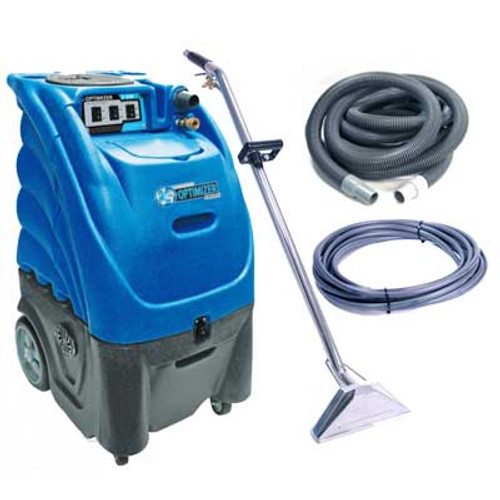 Sandia Optimizer 662300h0500 carpet extractor with heater 12 gallon canister dual 2 stage vac motors 300 psi pump
