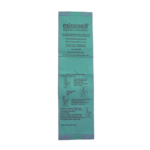 10 Bissell U8000PK10 vacuum bags for BGU8000 standard filtration pack of 10 bags