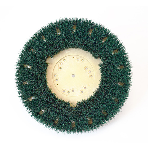 Floor scrubber brush .022 nylon 120 grit Malgrit 813017NP46 17 inch block fits 19 inch machines that require the NP46 clutch plate by Malish