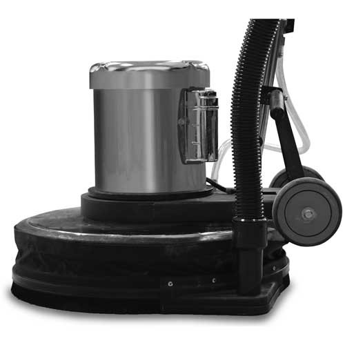 Dust control skirt kit 882920 with vacuum hose port for 20 inch floor buffers