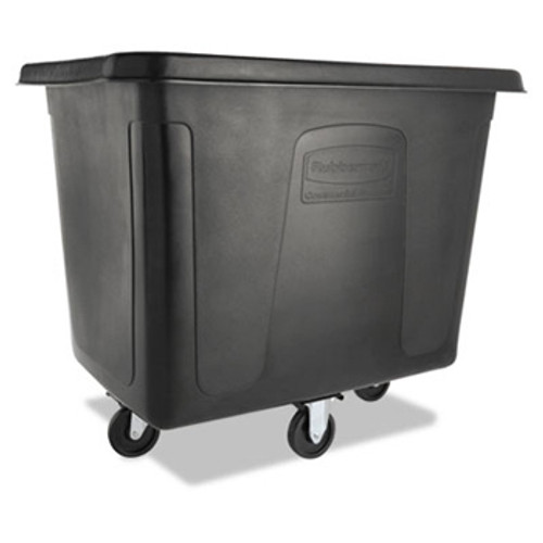 Rubbermaid 4616bla cube utility truck 16 cubic feet 500 lb. black replaces rcp4616bla rcpfg461600bla