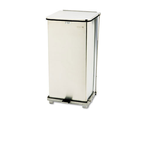 Rubbermaid rcpst24sspl defenders biohazard step can, square, steel, 24gal, stainless steel