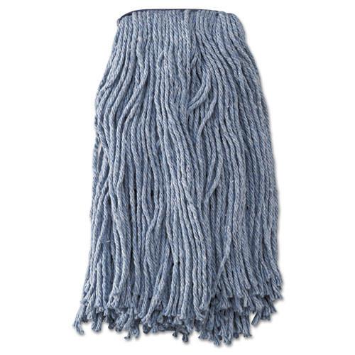 Boardwalk BWK2020B mop head standard head cotton synthetic fiber cut end 16oz, blue case of 12