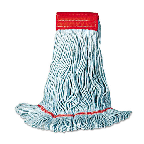 Boardwalk BWK402BL mop head premium standard head cotton rayon fiber medium blue case of 12