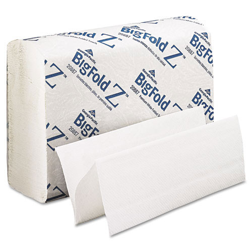 BigFoldZ GPC20887 paper hand towels cfold multifold big fold towel white 220 towels per pack case of 10 packs or 2200 towels