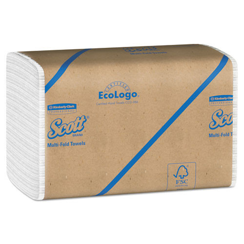 Scott KCC01804 paper hand towels multifold white case of 4000 towels