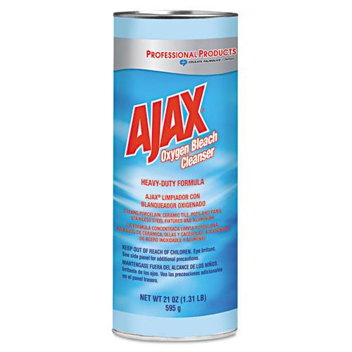 Ajax heavy duty Oxygen bleach powder cleanser calcite based 21oz cans case of 24 cpc14278CT oz