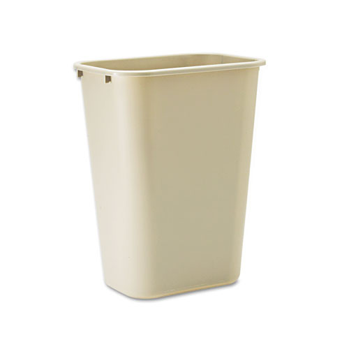 Rubbermaid 2957bei trash can 10 gallon wastebasket plastic rectangle beige replaces rcp2957bei rcp295700bg