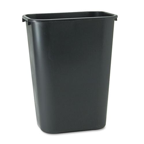 Rubbermaid 2957bla trash can 10 gallon wastebasket plastic rectangle black replaces rcp2957bla rcp295700bk