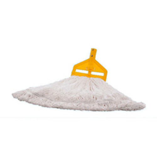 Rubbermaid t20006 glosspro finish mop medium 1 inch headband white case of 6
