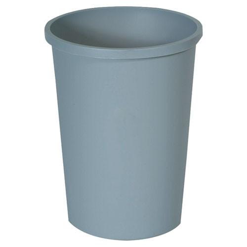 Rubbermaid 2947gra trash can 11 gallon wastebasket plastic round gray
