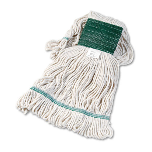 Boardwalk BWK502WHCT Super Loop looped end wet mop heads medium white 5 inch headband case of 12 replaces UNS503BL