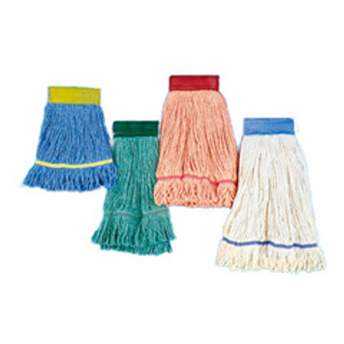 Boardwalk BWK503BLCT Super Loop looped end wet mop heads large blue 5 inch headband case of 12 mop heads replaces UNS503GN