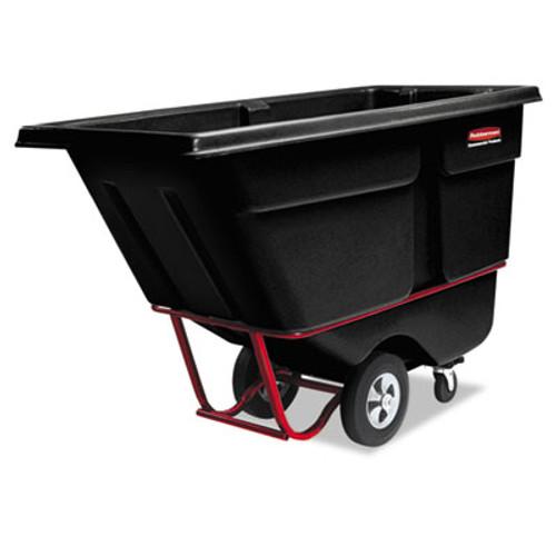 Rubbermaid 1315bla tilt truck 1 cubic yard 1250 lb. black