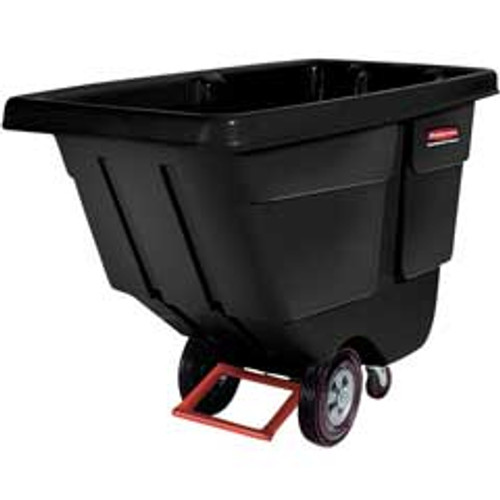 Rubbermaid 1314bla tilt truck 1 cubic yard 850 lb. black