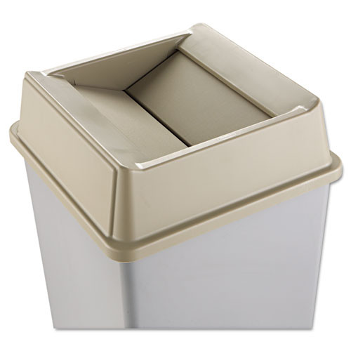 Rubbermaid 2664bei Untouchable trash can top large Untouchable for 3958 3959 beige
