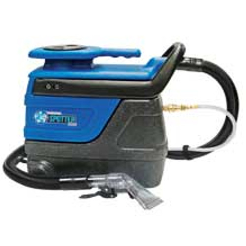 Sandia Super Spot Xtract 503000 carpet extractor 3 gallon with internal solution hose plastic hand tool 2 stage vac motor 55psi pump