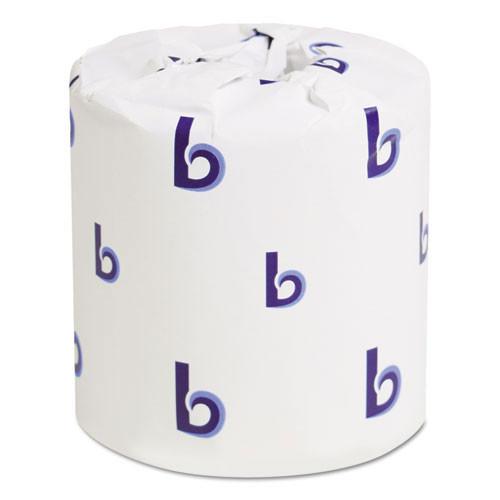 Boardwalk BWK6170 standard roll bathroom tissue 1 ply 1000 sheets 4.5x3.75 case of 96 rolls